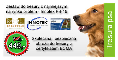 Obroża elektroniczna do tresury psa